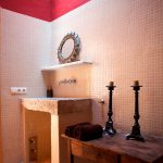 renovation projects spain, bathroom with antique marbel washbasin