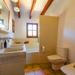 renovated bathroom in old finca